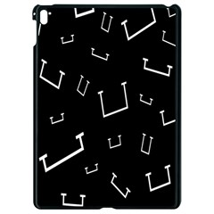 Pit White Black Sign Pattern Apple Ipad Pro 9 7   Black Seamless Case by Mariart