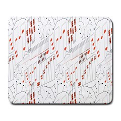 Musical Scales Note Large Mousepads by Mariart