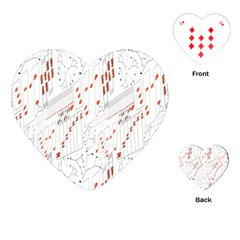 Musical Scales Note Playing Cards (heart)  by Mariart