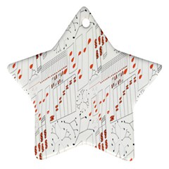 Musical Scales Note Star Ornament (two Sides) by Mariart