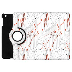 Musical Scales Note Apple Ipad Mini Flip 360 Case by Mariart