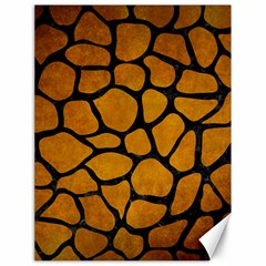 Skin1 Black Marble & Yellow Grunge (r) Canvas 18  X 24   by trendistuff