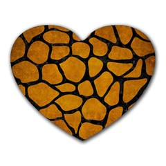 Skin1 Black Marble & Yellow Grunge (r) Heart Mousepads by trendistuff