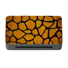 Skin1 Black Marble & Yellow Grunge (r) Memory Card Reader With Cf by trendistuff