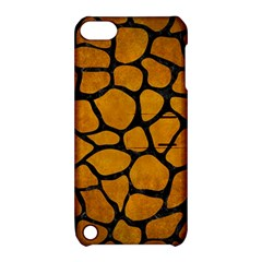 Skin1 Black Marble & Yellow Grunge (r) Apple Ipod Touch 5 Hardshell Case With Stand by trendistuff