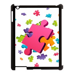 Passel Picture Green Pink Blue Sexy Game Apple Ipad 3/4 Case (black)