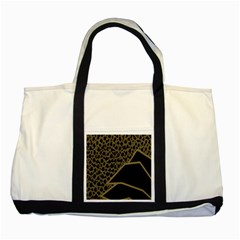 Polka Spot Grey Black Two Tone Tote Bag by Mariart