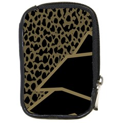 Polka Spot Grey Black Compact Camera Cases by Mariart