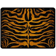 Skin2 Black Marble & Yellow Grunge (r) Double Sided Fleece Blanket (large)  by trendistuff