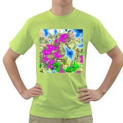 Painting Map Pink Green Blue Street Green T Shirt by Mariart