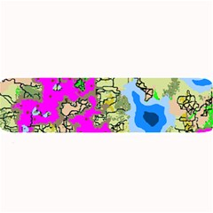 Painting Map Pink Green Blue Street Large Bar Mats