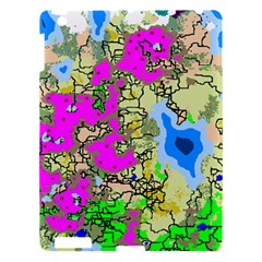 Painting Map Pink Green Blue Street Apple Ipad 3/4 Hardshell Case by Mariart