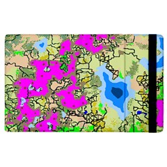 Painting Map Pink Green Blue Street Apple Ipad 2 Flip Case by Mariart