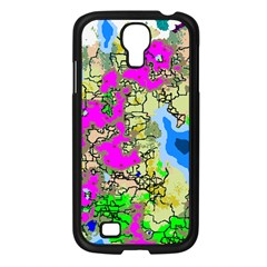 Painting Map Pink Green Blue Street Samsung Galaxy S4 I9500/ I9505 Case (black) by Mariart