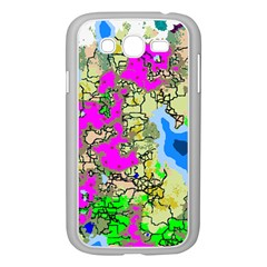 Painting Map Pink Green Blue Street Samsung Galaxy Grand Duos I9082 Case (white) by Mariart
