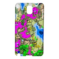 Painting Map Pink Green Blue Street Samsung Galaxy Note 3 N9005 Hardshell Case by Mariart