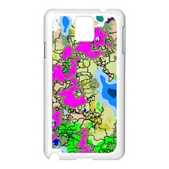 Painting Map Pink Green Blue Street Samsung Galaxy Note 3 N9005 Case (white) by Mariart