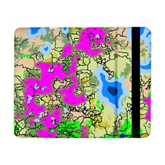 Painting Map Pink Green Blue Street Samsung Galaxy Tab Pro 8 4  Flip Case by Mariart