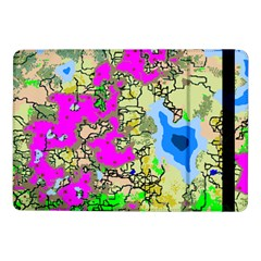 Painting Map Pink Green Blue Street Samsung Galaxy Tab Pro 10 1  Flip Case by Mariart