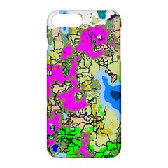 Painting Map Pink Green Blue Street Apple Iphone 8 Plus Hardshell Case by Mariart