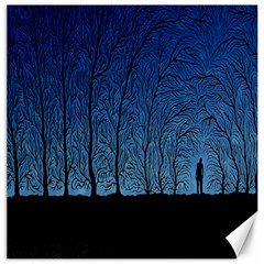 Forest Tree Night Blue Black Man Canvas 20  X 20