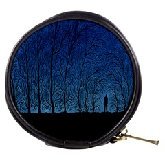 Forest Tree Night Blue Black Man Mini Makeup Bags by Mariart