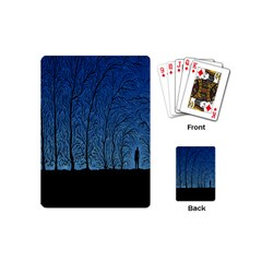 Forest Tree Night Blue Black Man Playing Cards (mini)  by Mariart