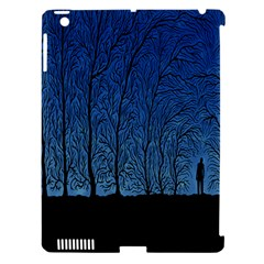 Forest Tree Night Blue Black Man Apple Ipad 3/4 Hardshell Case (compatible With Smart Cover) by Mariart