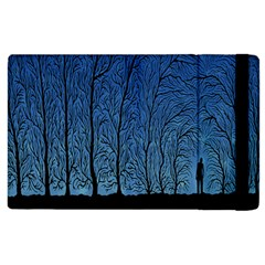 Forest Tree Night Blue Black Man Apple Ipad 2 Flip Case by Mariart