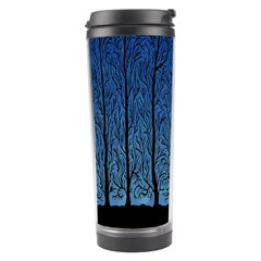 Forest Tree Night Blue Black Man Travel Tumbler by Mariart