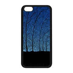 Forest Tree Night Blue Black Man Apple Iphone 5c Seamless Case (black) by Mariart