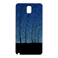 Forest Tree Night Blue Black Man Samsung Galaxy Note 3 N9005 Hardshell Back Case by Mariart