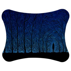 Forest Tree Night Blue Black Man Jigsaw Puzzle Photo Stand (bow) by Mariart