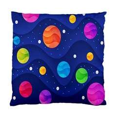 Planet Space Moon Galaxy Sky Blue Polka Standard Cushion Case (one Side)