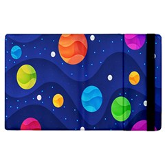 Planet Space Moon Galaxy Sky Blue Polka Apple Ipad 2 Flip Case by Mariart