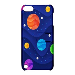 Planet Space Moon Galaxy Sky Blue Polka Apple Ipod Touch 5 Hardshell Case With Stand by Mariart