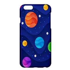 Planet Space Moon Galaxy Sky Blue Polka Apple Iphone 6 Plus/6s Plus Hardshell Case