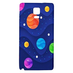 Planet Space Moon Galaxy Sky Blue Polka Galaxy Note 4 Back Case by Mariart