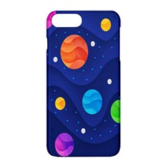 Planet Space Moon Galaxy Sky Blue Polka Apple Iphone 8 Plus Hardshell Case by Mariart