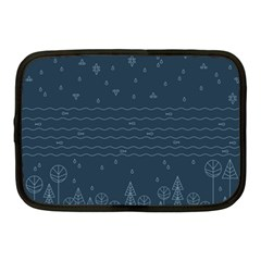 Rain Hill Tree Waves Sky Water Netbook Case (medium)  by Mariart