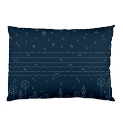 Rain Hill Tree Waves Sky Water Pillow Case by Mariart