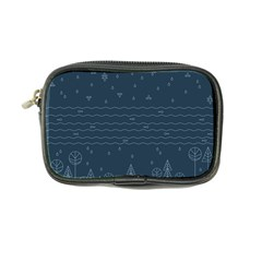 Rain Hill Tree Waves Sky Water Coin Purse by Mariart