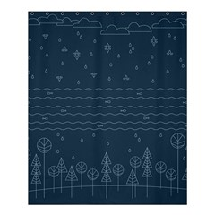 Rain Hill Tree Waves Sky Water Shower Curtain 60  X 72  (medium)  by Mariart