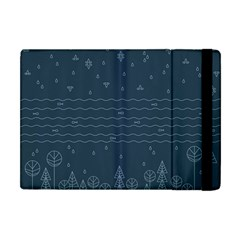 Rain Hill Tree Waves Sky Water Apple Ipad Mini Flip Case by Mariart