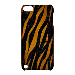 Skin3 Black Marble & Yellow Grunge (r) Apple Ipod Touch 5 Hardshell Case With Stand by trendistuff