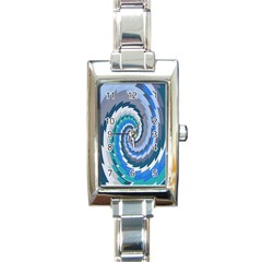 Psycho Hole Chevron Wave Seamless Rectangle Italian Charm Watch by Mariart
