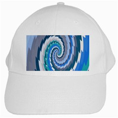 Psycho Hole Chevron Wave Seamless White Cap