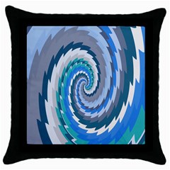 Psycho Hole Chevron Wave Seamless Throw Pillow Case (black) by Mariart