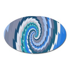 Psycho Hole Chevron Wave Seamless Oval Magnet by Mariart