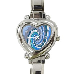 Psycho Hole Chevron Wave Seamless Heart Italian Charm Watch by Mariart